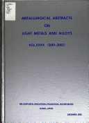 Metallurgical Abstracts on Light Metals and Alloys