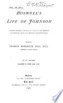 Boswell s Life of Johnson  Life  v l  1709 1765  v 2 1765 1776  v 3  1776 1780  v 4  1780 1784