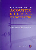 Fundamentals of Acoustic Signal Processing