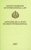 Hague yearbook of international law