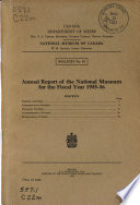 Annual Report of the National Museum for the Fiscal Year...