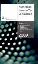 Australian income tax legislation 2009