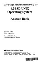 The Design and Implementation of the 4.3BSD UNIX Operating System Answer Book