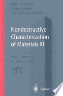 Nondestructive Characterization of Materials XI Book