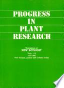 Progress in Plant Research