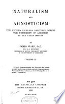 Naturalism and Agnosticism