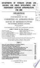 Departments of Veterans Affairs and Housing and Urban Development  and Independent Agencies Appropriations for 2003  Agency for toxic substances and disease registry Book