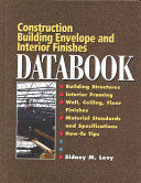 Building Envelope and Interior Finishes Databook Book