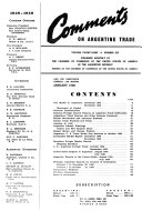 Comments On Argentine Trade
