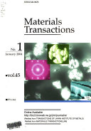 Materials Transactions Jim  Book PDF