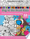 Coloring Books for Grown-Ups Day of the Dead Girls