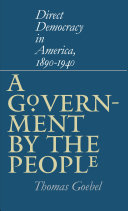 A Government by the People Pdf/ePub eBook