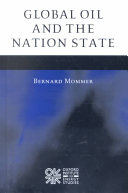 Global Oil and the Nation State Book