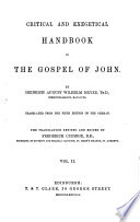 Critical And Exegetical Commentary On The New Testament Matthew