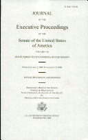 Journal of the Executive Proceedings of the Senate of the ...