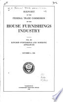 Report of the Federal Trade Commission on House Furnishings Industries