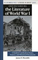 Understanding the Literature of World War I