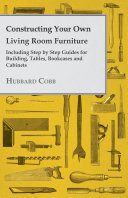 Constructing Your own Living Room Furniture - Including Step ...