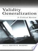 Validity Generalization
