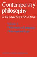 Pdf Tome 1 Philosophie du langage, Logique philosophique / Volume 1 Philosophy of language, Philosophical logic Telecharger
