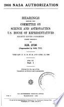 1966 NASA Authorization, Hearings...