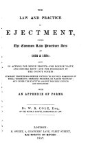 The Law and Practice in Ejectment
