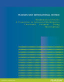 Mathematical Proofs  Pearson New International Edition