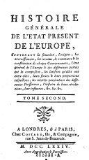 Histoire generale de l'etat present de l'Europe (etc.)