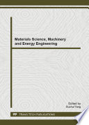 Materials Science  Machinery and Energy Engineering