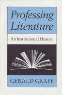 Professing Literature