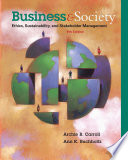 Business and Society  Ethics  Sustainability  and Stakeholder Management Book PDF