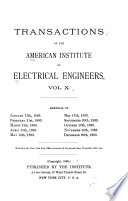 Transactions of the American Institute of Electrical Engineers Book
