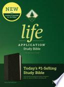 NLT Life Application Study Bible, Third Edition (Leatherlike, Black/Onyx)