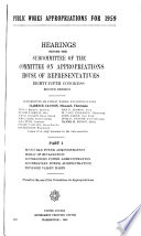 Public Works Appropriations for 1959