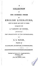 A Collection of One Hundred Pieces of English Literature