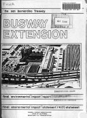 San Bernadino Freeway Busway Extension from Mission Road to Alameda St, Los Angeles