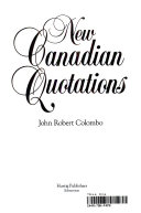 New Canadian Quotations