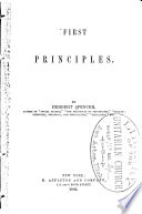 First Principles of a New System of Philosophy Book