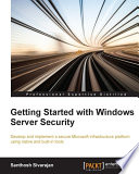 Getting Started with Windows Server Security Book