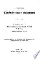 A Treatise on the Authorship of Ecclesiastes