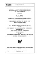 Mineral and Water Resources of New Mexico