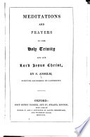 Meditations And Prayers To The Holy Trinity And Our Lord Jesus Christ Book PDF