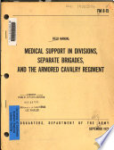 Medical Support In Divisions Separate Brigades And The Armored Cavalry Regiment