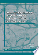 Solid State Synthesis Of Magnesium Based Functional Alloys And Compounds Book PDF