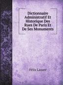 Pdf Dictionnaire Administratif Et Historique Des Rues De Paris Et De Ses Monuments Telecharger