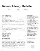 Kansas Library Bulletin