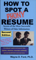 How to Spot a Phony Resume