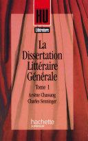 Pdf La Dissertation littéraire générale Telecharger
