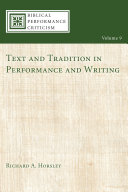 Pdf Text and Tradition in Performance and Writing