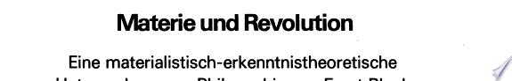 Materie und Revolution